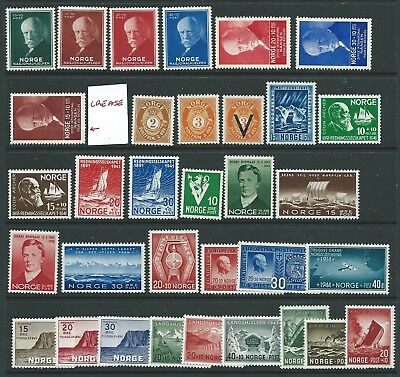 Norway Nice Lot Mnh Commems To 1943 Fresh!