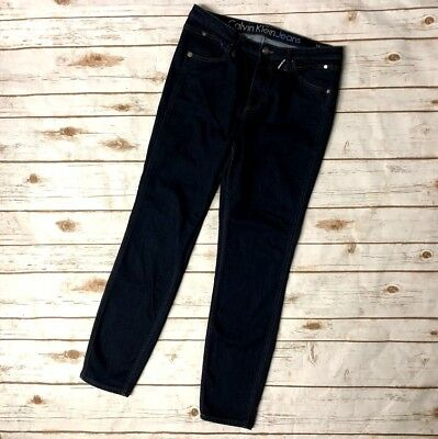 Calvin Klein Jeans Sculpted Skinny Jeans Dark Wash Mens Womens Size 31 X 28