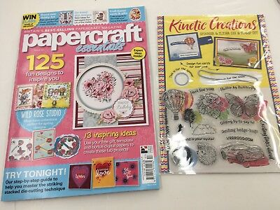 Papercraft Essentials Magazine 157 March 2018 Kinetic Creations Stamps & Dies