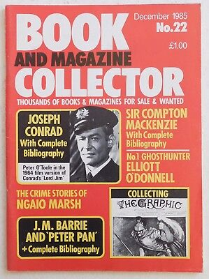 BOOK & MAGAZINE COLLECTOR #22 - 12/1985 - Joseph Conrad, J.M.Barrie 'Peter Pan'