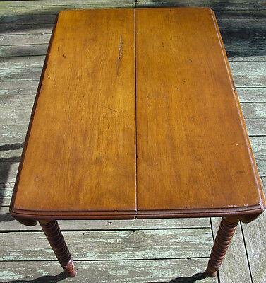 Antique American Chestnut Spindle / Spool Table - Excellent Condition