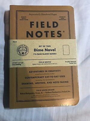 Field Notes Notebook Dime Novel Colors Special Edition