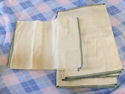 Lot 8 New Unbleached Cotton Cloth Prefold Diapers Infant Green Baby