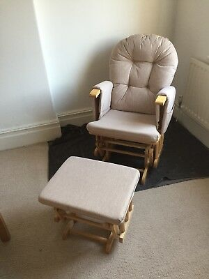 Reclining Glider Chair & Footstool - V Good Condition - Pet and Smoke free home