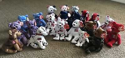 TY Beanie Babies - Lot Of Red/white/blue