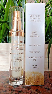 HAMPTON SUN Serious Shimmer Cooling Body Spray Hydrating Illuminating BRONZE 1oz