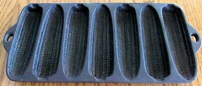 Vintage Wagner Ware Cast Iron Corn Bread Mold 7 Krusty Cobs USA Made