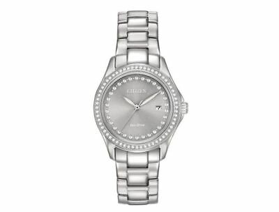 Citizen Eco-Drive Women's FE1140-86H Crystal Accents Grey Dial 29.5mm Watch