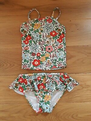 NEXT Girls Tankini Swim Suit Costume 12-18 months Very good condition Flowers