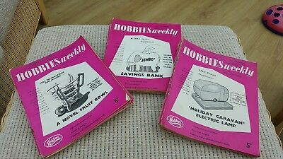 HOBBIES WEEKLY MAGAZINES bundle from 1960 - 42 Magazines, 18 design plans