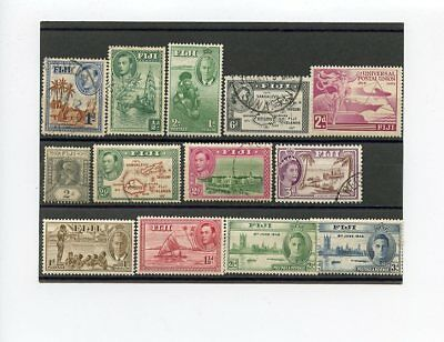 British Colony Fiji, Selection Of Old Used And Mint Stamps