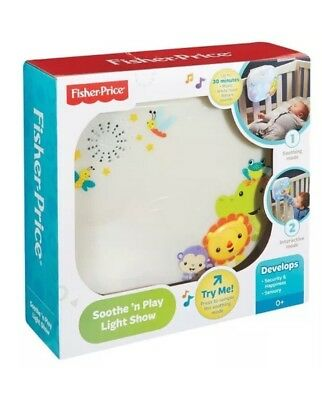 Fisher-Price Shooting Soothe 'n Play Light Show Soother Baby Crib Lullabies