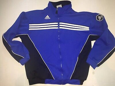 Adidas Youth Boy's Track Jacket Full Zip Soccer Warm Up size XL 18-20