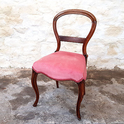 Victorian Rosewood Balloon Dining Chair - C1870 (Antique)