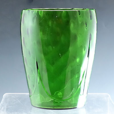 Cambridge Glass Number 1446 Green Vase Dart and Optic