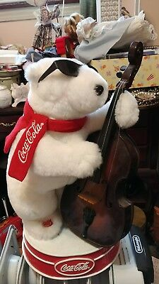 Jazz Bass Playing Animated polar bear by Coca-Cola