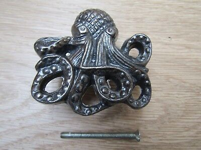 OCTOPUS KNOB Cast iron rustic vintage cabinet cupboard drawer knob handle