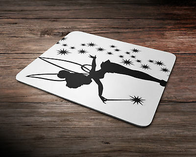 Fairy Tinkerbell Silhouette Design Rubber Mouse Mat PC Mouse Pad D8