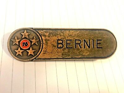 VINTAGE OR ANTIQUE Union 76  GAS STATION UNIFORM NAME TAG BRASS