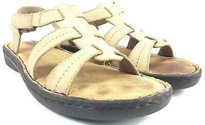 Minnetonka Open Toe Fisherman Leather Slingback Sandals Women's size 8  70107