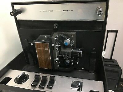 Vintage Wards 877 Duo 8MM Movie Projector , Variable Speed