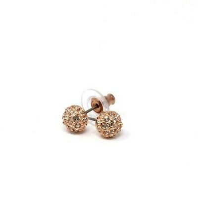 Swarovski Emma Pierced Earrings Rose Gold Plated Studs
