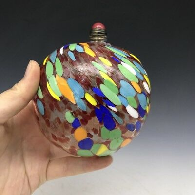 Collect the shape of the round ball of colored glass of old Beijing