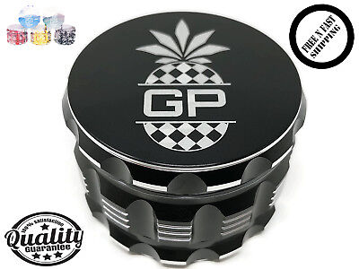 """**hottest Grinder** For Herb , Tobacco, Spice - Black & Silver 4 Pieces (2.5"""")"""