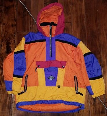 Vintage Jupa Sports Canada Colorblock 1/2 Zip Insulated Ski Jacket Size 12