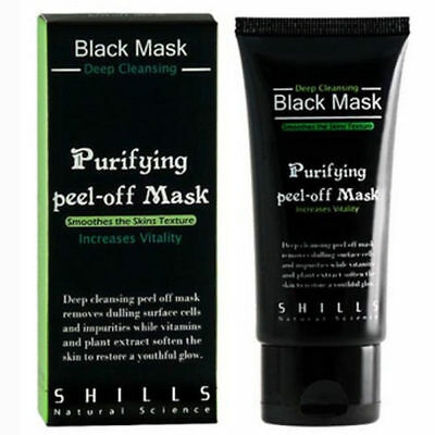 """SHILLS"" Purifying Blackhead Remover Peel-Off Black Charcoal Face Mask NEW 50ml"