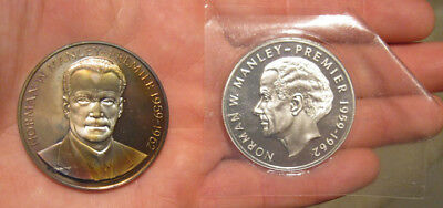 Jamaica - (2) Large Proof Silver Coins