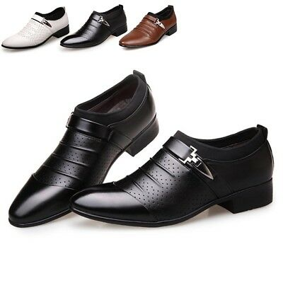 Mens Leather Shoes England Casual Oxfords Nice Casual Pointed Toe Dress Shoes
