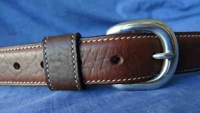 IN Williams Top Quality Australian Mens Leather Belt, Brass Buckle, Size 42/107