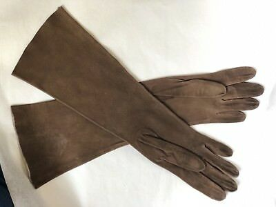 Roger Fare FRENCH NEIMAN MARCUS KIDSKIN LEATHER GLOVES Brown Orig Bag