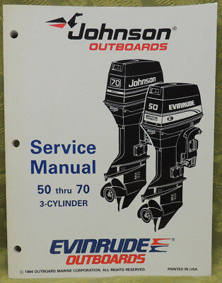 1995 Johnson Outboard Service Repair Manual 25 50 60 65 70 HP  3 Cyl Evinrude