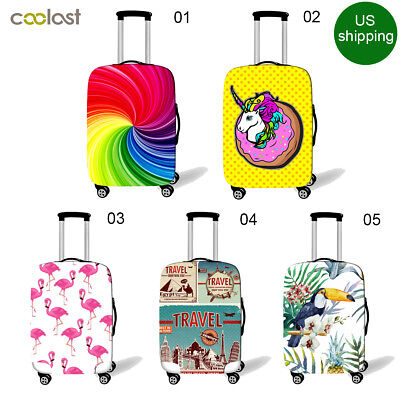 Coolost Spandex Travel Luggage Cover Suitcase Protector Fits 18-28 Inch Luggage