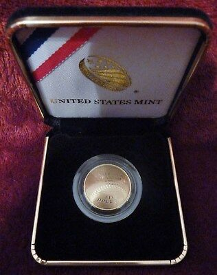 2014 W Baseball Hall of Fame $5 Gold Proof Coin with US Mint Box and COA