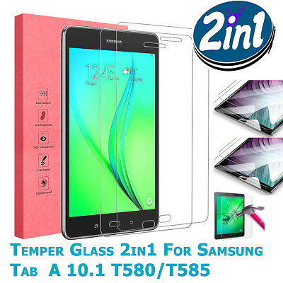 """2X 2-PACK Tempered Glass Screen Protector For Samsung Tab A6 10.1""""Inch T580/T585"""