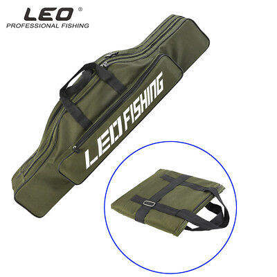Fishing Pole Rod Reel Storage Bag Case Carrier Tool Oxford Foldable Tackle Strap