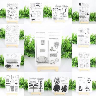 Clear Silicone Rubber Stamp Transparent Cling Diary Scrapbooking Card DIY Decor