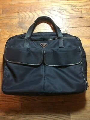 4889755f5 PRADA Briefcase - Nylon with leather straps - Unisex - Perfect work bag