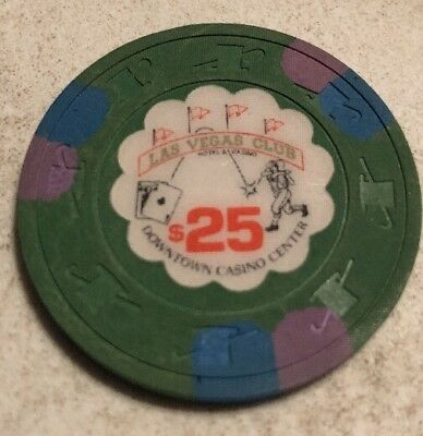 Las Vegas Club $25 Casino Chip Las Vegas Nevada 2.99 Shipping