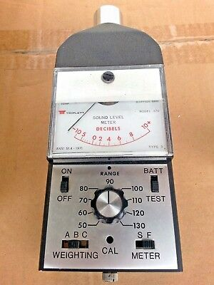 1971 Triplett Sound Level Meter 370 & Calibrator 371   VERY CLEAN