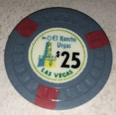 El Rancho $25 Casino Chip Las Vegas Nevada 2.99 Shipping