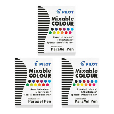 Mixable Farbe IC-P3-AST Parallel Pen Nachfullung (12-Farbe) (3pcs) - mischen