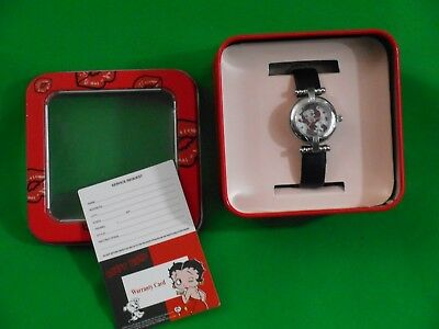 Betty Boop Wrist Watch In Original Tin Collectible Animation Characters Jewelry