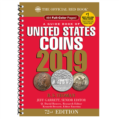 2019 Official Guide Red Book of United States Coins 72nd Edition - Spiral Bound