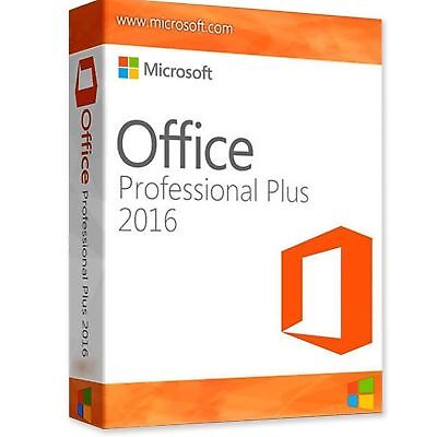 MS Office Professional Plus 2016 Full 1PC Version Lifetime Key Instant DELIVERY