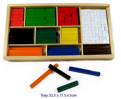 2 x Wooden CUISENAIRE RODS 308 pce EDUCATIONAL Early MATHS Aid FUN FACTORY 3y+