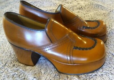 Vintage  Disco Era 1970's JOHN HARDY PLATFORM SHOES